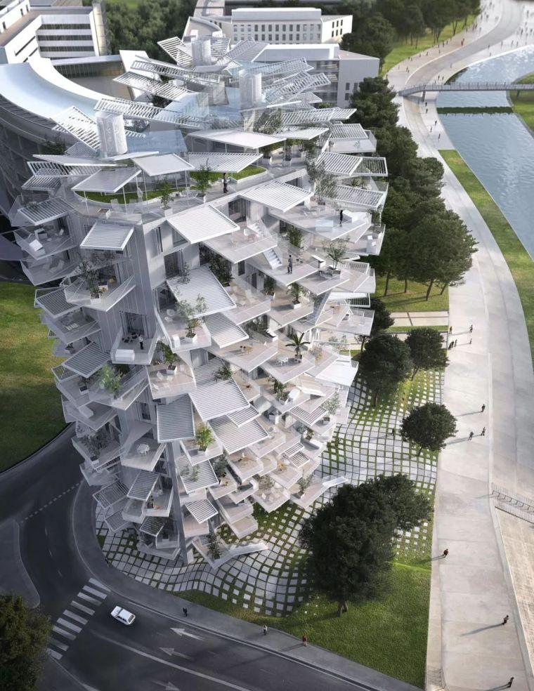 """藤本壮介设计的像树一样的公寓楼建成了,每户都有""""空中花园""""_11"""