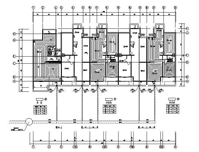 5户联排别墅采暖设计施工图
