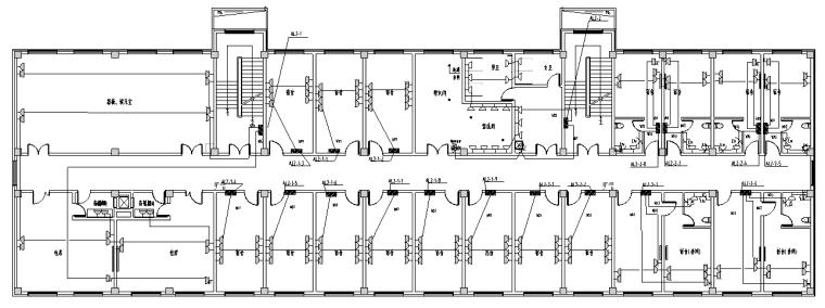 资料为吉林某工厂厂区综合楼电气设计图纸,设计范围包括(1)供配电系统图片