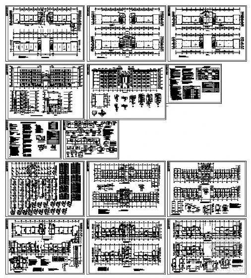 [学士]某五层教学楼建筑结构图及施组造价