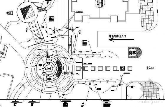 中心广场水景给排水管道设计详图