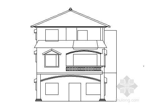 某兄弟型小农家住宅建筑方案图(带效果图)