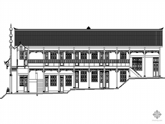 [蓬安县]某仿古建筑万寿宫建筑设计施工图