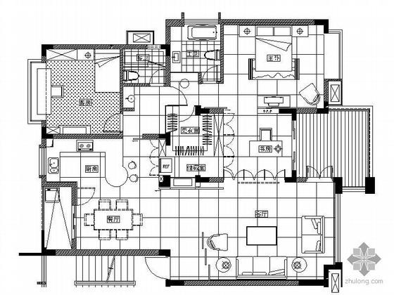 [上海]三室两厅样板房装修图