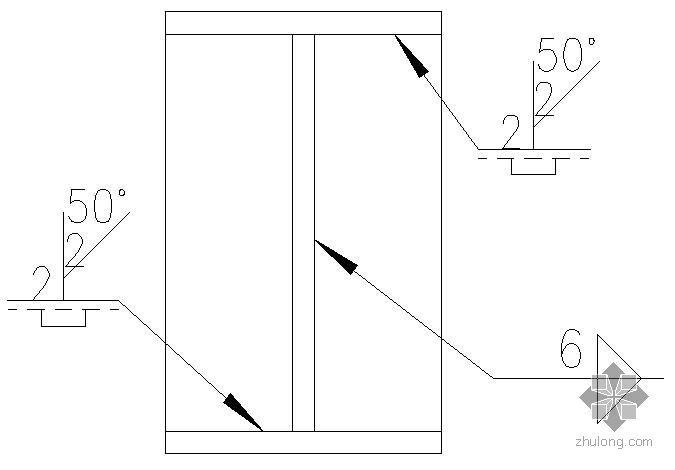 某柱顶板连接焊缝示意节点构造详图