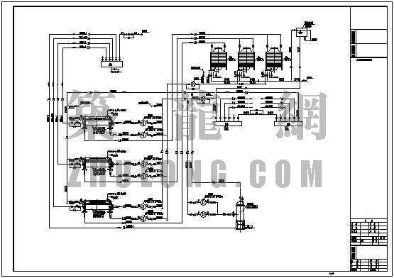 冷冻机房管道流程图