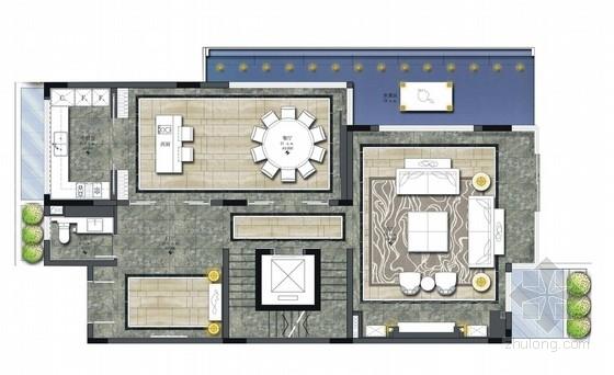[广东]豪华现代风格四层别墅室内装饰设计方案(含两套户型 图纸清晰 力荐!)