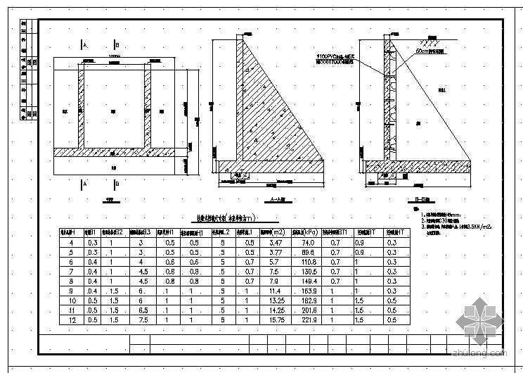 扶壁式挡土墙设计图