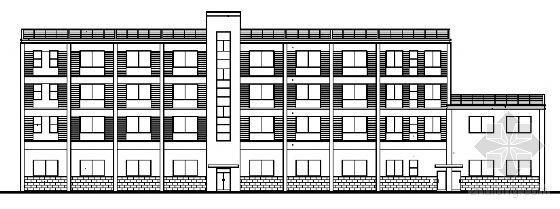 某四层消防队办公楼建筑施工图