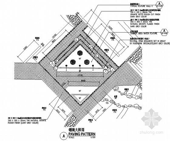 广场铺装平面图