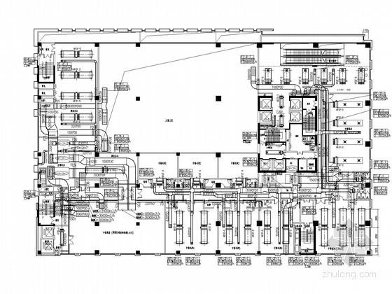 [山东]商业综合体暖通空调全套系统扩初图(动力系统 机房设计)