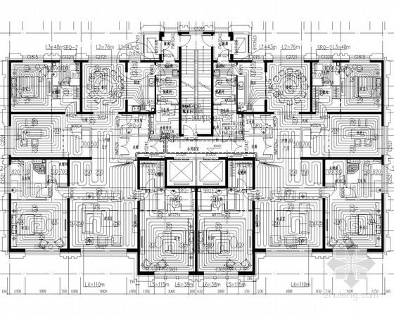 [北京]高层住宅项目地板辐射供暖及排烟系统设计施工图(含建筑设计 人防)