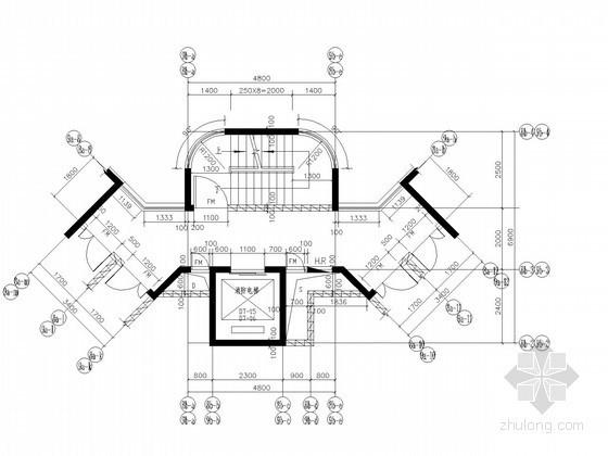 [山东]现代风格高层住宅区核心筒大样图