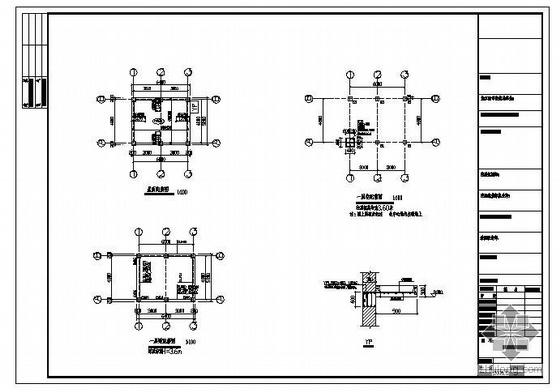 某小区门卫房结构图