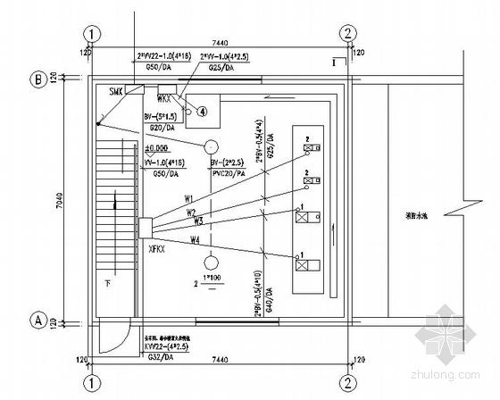 某厂区消防水泵房图纸
