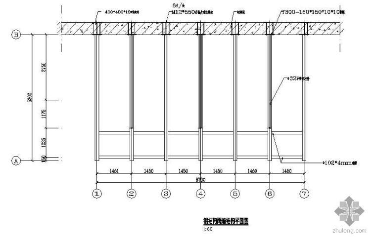 某钢结构点式雨蓬节点构造详图