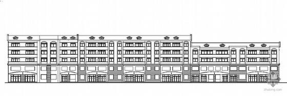 某五层(带阁楼)底商住宅楼建筑施工图