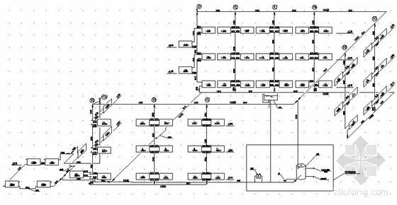 三层办公楼采暖设计图