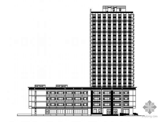 [上海徐汇]某二十四层商业综合楼建筑施工图(商业、办公)