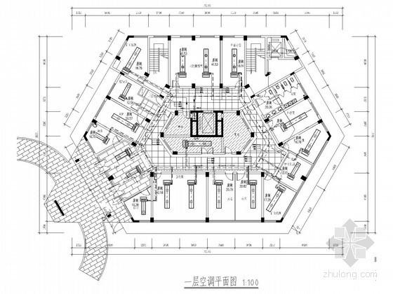 多层医疗建筑空调通风系统设计施工图(含环保设计)