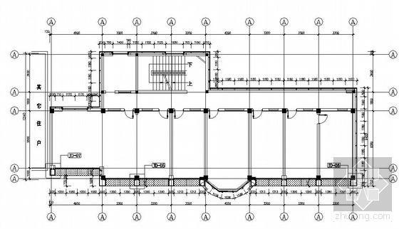 肥西县某办公楼外立面改造幕墙全套设计图