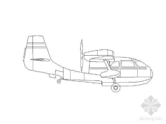 各式飛機平立面圖塊全集