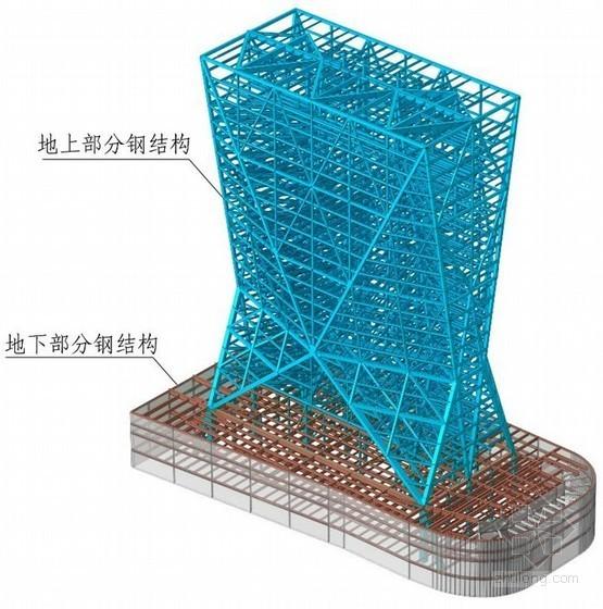 [浙江]银行办公楼主体钢结构安装施工方案(三维效果图)