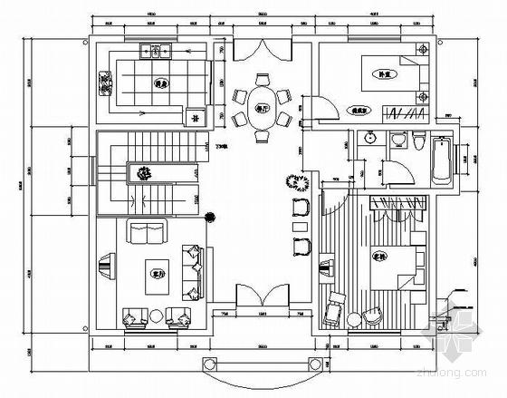 农村小别墅电气设计图