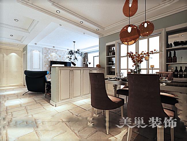 中海锦苑129平三室两厅装修效果图唯美轻美式_3