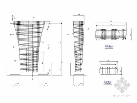 高速公路连续梁桥下部结构毕业设计PPT讲义(含设计图)