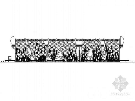 [大连]市级框架结构特级网球场建筑施工图