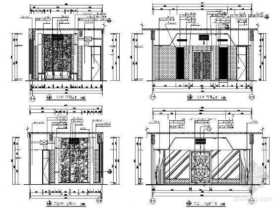 VIP包厢装修资料下载-豪华VIP包厢立面设计图Ⅱ