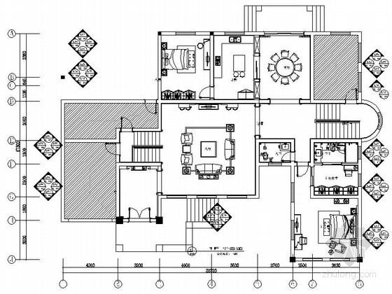 [湖南]精品奢华欧式双层别墅CAD设计装修图(含效果)