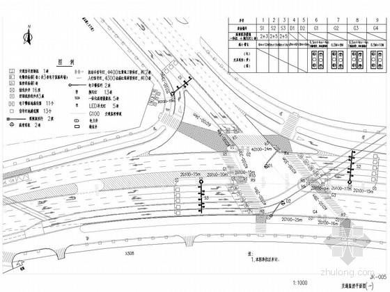 [福建]市政道路交通监控图纸22张(电子警察 视频监控)