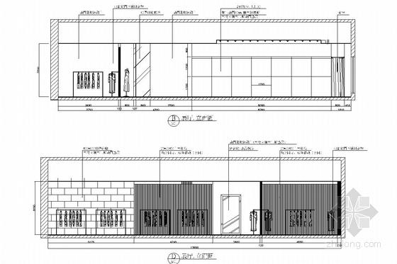[浙江]皮革之都生产出口时尚皮草公司研发中心施工图 展厅立面图