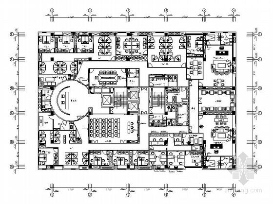 [天津]超全面综合性金融科技公司现代办公楼室内装修施工图(含室内外效果图)