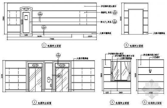 电梯间立面图