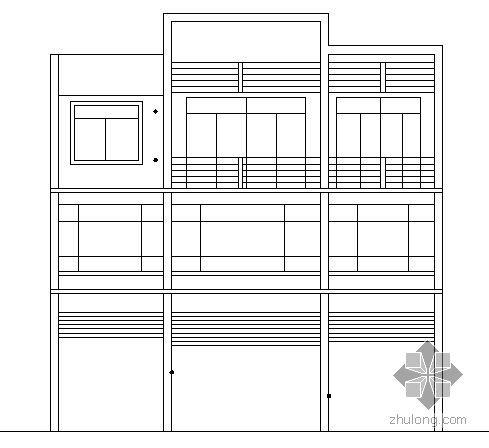 私人住宅楼施工图(一层2户)
