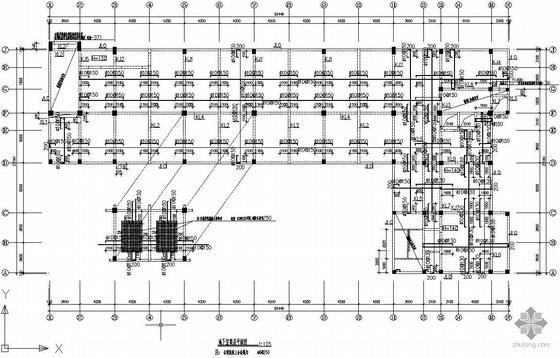 某框架结构商务楼建筑及结构施工图