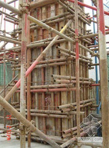 江苏某通信大楼工程清水混凝土模板技术应用总结(胶合板 附图)