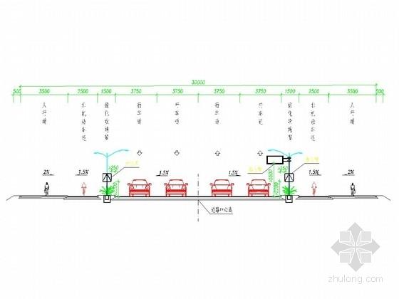 [安徽]市政道路建设施工图全套设计310张(路基路面 桥涵 绿化照明)
