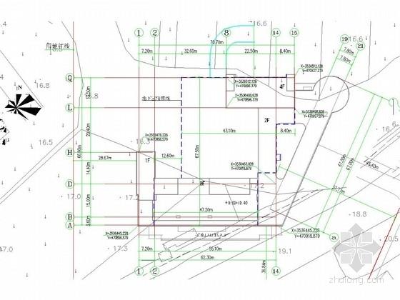 [江苏]地下车库放坡喷素混凝土基坑支护施工图(2015年制)