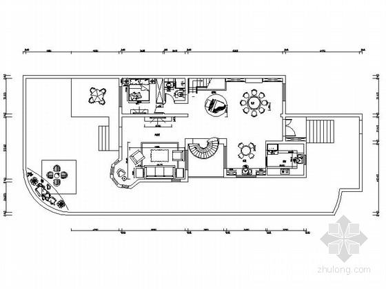 知名装饰设计简欧风情三层别墅装修施工图