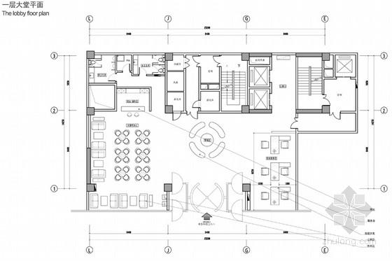 [河南]时尚现代商务酒店室内设计方案