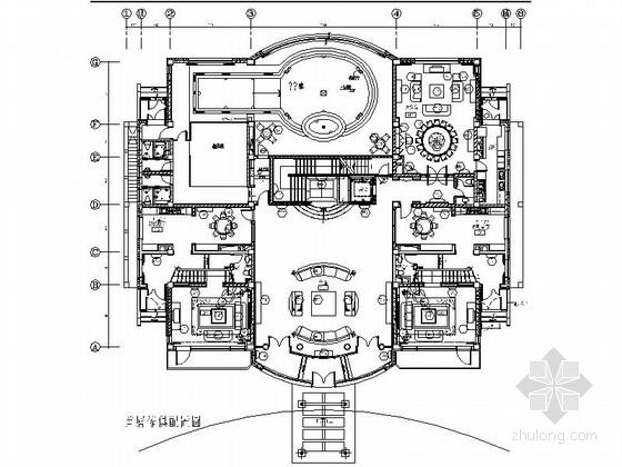 [长春]港台知名设计事务所设计魅力时尚欧式三层别墅施工图