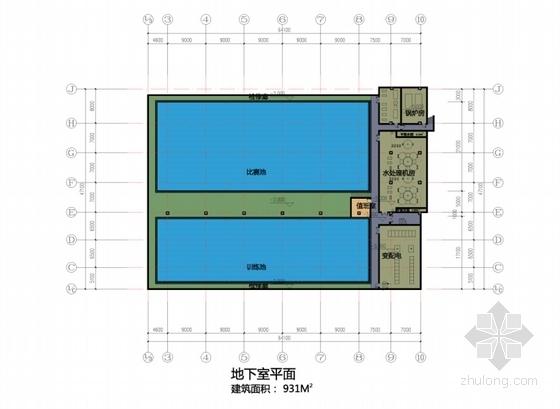[湖北]市级体育场项目设计方案文本(知名设计院)-市级体育场项目设计方案平面图