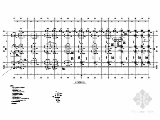 [浙江]六层框架结构学生宿舍楼结构施工图