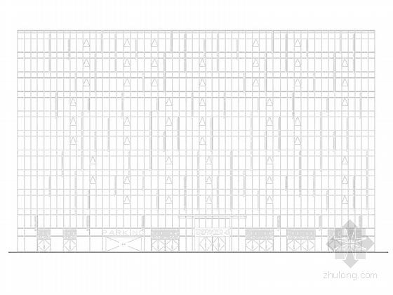 [上海]高层玻璃幕墙框架结构办公商业综合体建筑施工图(600多张图