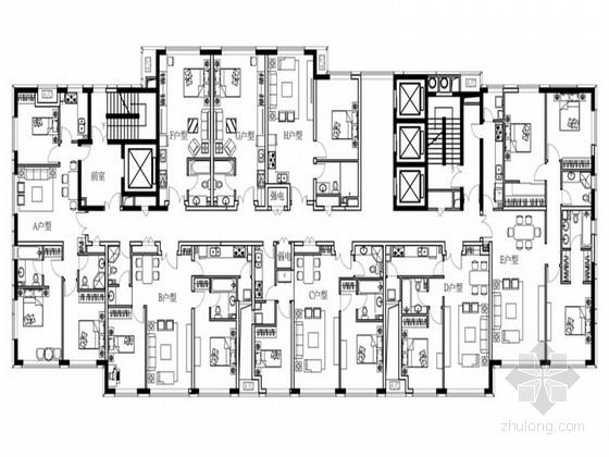[天津]现代简约公寓样板间设计方案(含效果图)