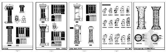 欧式建筑构件符号图库